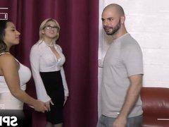 Hardcore threesome interracial (Priya Price, Cristi Ann)