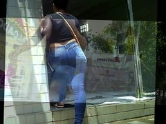 mulheres de jeans colado big ass in jeans tight T08