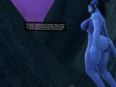 Cock Hungry Draenei Talking Some Small Cocked Stud Off