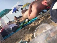 beach spy: cub shows off huge boner on public beach