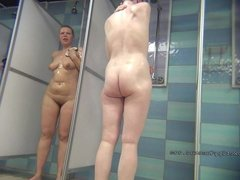 Spy on these showering girls