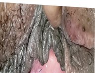 Inside wife's pink hole close up