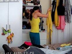 Milf changing in Bedroom HACKING CAM