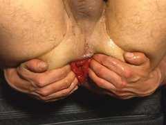 Rosebud belly bulge huge and long toy gape and anal fist