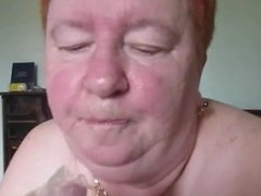 Fat Old Granny Eats The Cum From The Condom