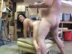 Busty MILF having sex with a fat man from Atlanta