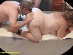 2018-10-05 Manslut Ass fucks then Eats It BBW BDSM Mmf Bondage Anal 3sum