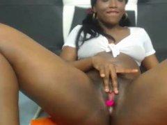 Sexy black young girl on webcam Sonya 2