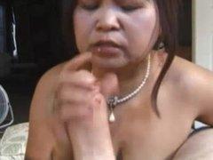 Mature asian POV blowjob