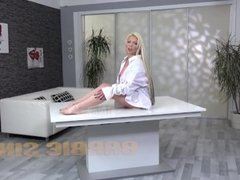 Wet Panties And Piss Play For Blonde Pornstar