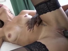 Mature gets ass fucking likes it rough and sucks big black cock