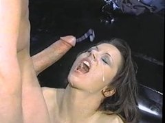 large cock explodes all over pantyhose girl