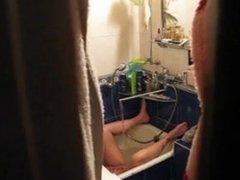Hidden masturbating in shower using water jet part 1