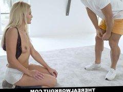 TeamSkeet - Fit Blond Sucks Off Her Hot Trainers Cock