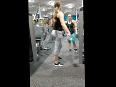 Grey Gym Leggings on milf
