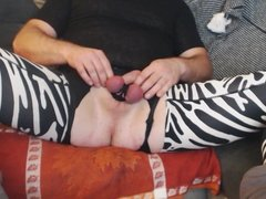 Me fucking my Ass with Big Dildo and Tied Balls