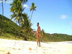NAKED MAN AT THE NUDIST BEACH