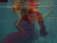 Very hot underwater show with Nastya
