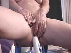 Doofus Inserts Hitachi In His Wife's Ass