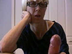mature wife jerks husbands cock (last of it slowmotion)