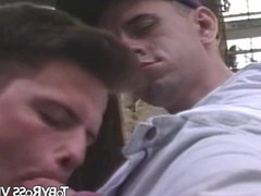Vintage gay blowjob with an amateur dude and his friend