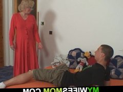 Taboo sex with blonde mother-in-law gets revealed