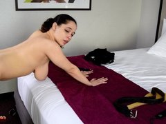 Daughter Punished with the Razor Strap - (Spanking)