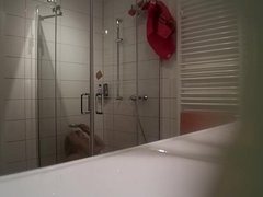 Mature German caught in the shower 2