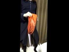 CD skirt masturbation in feminine dress (sample shorter ver)