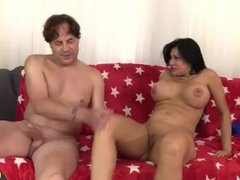 Big Tits Older Slut Sheila Marie Takes a Long Cock Deep in Her Pussy
