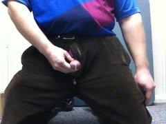 Masturbating and Cum at Work