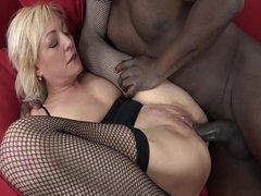 Blonde Milf Fucks A Black Stud In Interracial Fun