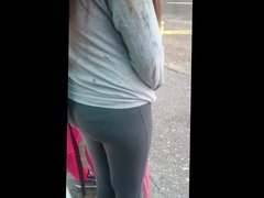 sweet ass teen in a tight yoga pants