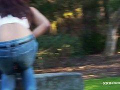 Nature's Nectar - HOT ASIAN PUBLIC PEE IN PARK