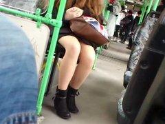 Hungarian Teen Nice Legs on Bus X Hungarian Street Candid X