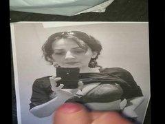 Tribute on my girlfriend's big tits photo
