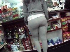 Big azz in grey sweat pants damn girl!!!