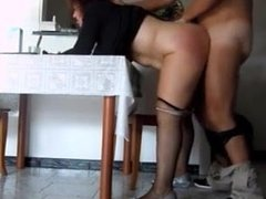 italian wife ass fucked by her bull in the kitchen