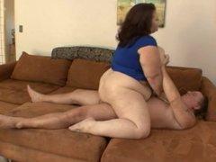 Fat guy fucks fat wife