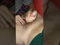 My wife play with my big cock part 4 slow motion