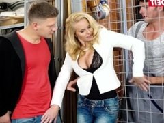 LETSDOEIT - Horny STEP MOTHER DP Fucked By Her Sons
