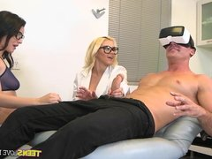 A Virtual Reality Experience with real slut mouths on Dick
