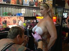 Body Paint Fantasy Fest - Busty Babe