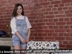 A petite virgin from Russia shows her hymen and shows how she masturbates.