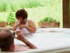 IN THE HOT TUB WITH HUBBY'S FRIEND