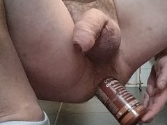 Big asshole, big bottle, big cock