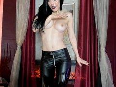 Leather Pants Tease