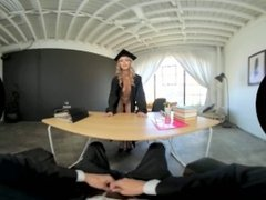 VR 180 - Alina Lopez blows the dean for extra credit to graduate