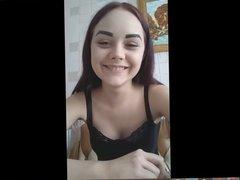 Girl Masturbates and gets orgasm on Skype