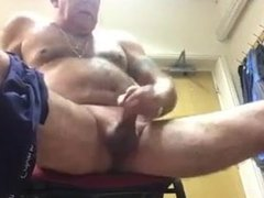 Daddy jerking off at the job